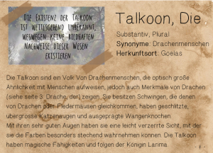 talkoon,die
